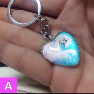 Unicorn heart pendant keychain / dangle [gifts presents handmade uncle.anthony uncle anthony uac] FOR MORE PHOTOS & DETAILS, GO HERE: 👉 http://carousell.com/p/137495893