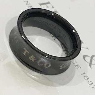 Excellent Authentic Tiffany & Co 1837 Medium Width Titanium Ring