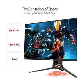 Asus ROG Swift PG258Q Gaming Monitor – 25 inch (24.5 inch viewable) FHD (1920x1080), Native 240Hz, 1ms, G-SYNC