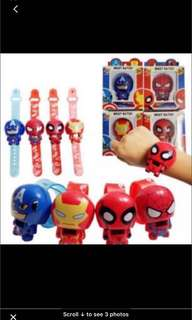Instock kids digital watch Brand. New (American / spiderman/ ironman)
