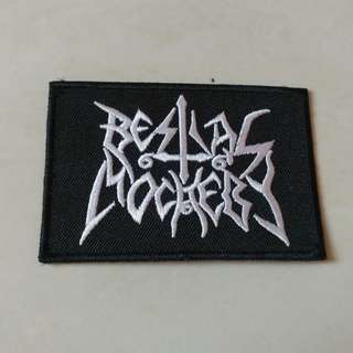 Bestial Mockery - Logo Woven Patch Band Merch
