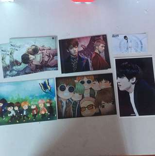 Range of Kpop unofficial Photocards BTS BANGTAN BOYS and one got7