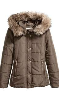 H&M Winter Down Jacket with Fur Hood (Price reduced to clear)