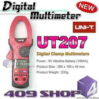 1 x UNI-T UT207 數字鉗形萬用表