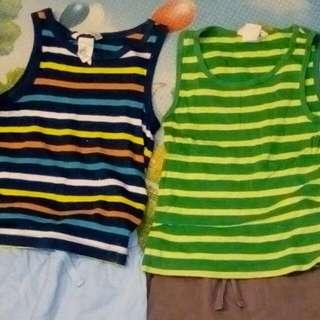 Boy shorts and shirt