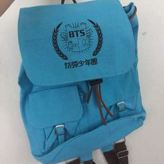BTS Bangtan Boys Backpack Blue