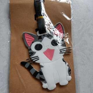 🚚 全新。貓咪造型行李箱吊牌~