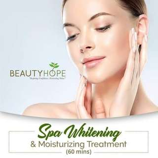 Spa Whitening and moisturizing treatment