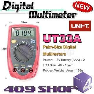 1 x Uni-T UT33A掌上數字萬用表