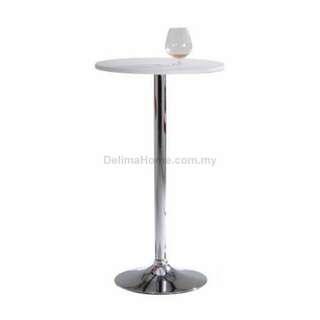 Anton Melamine Top Bar Table, White