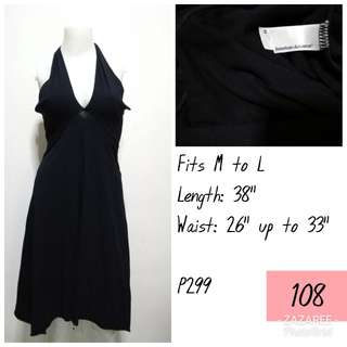 American Apparel Black Halter Dress