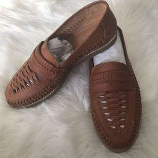 Leather Woven Loafers