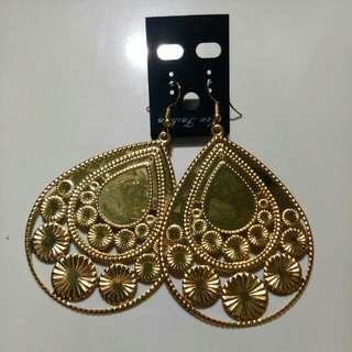 New/ anting lempeng gold
