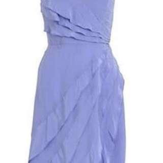 Zimmermann lilac silk sunray waterfall dress