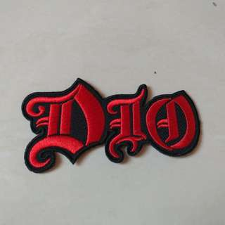 Dio - Red Logo Shaped Woven Patch Band Merch