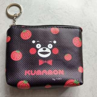 🚚 全新。熊本熊 皮質鑰匙零錢包、收納包