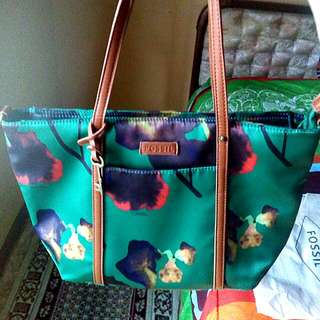 FOSSIL GREEN TOTE BAG IMPORT HK