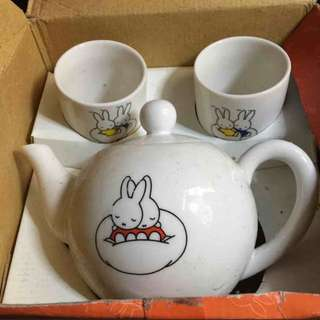 Miffy兔茶杯茶壺組