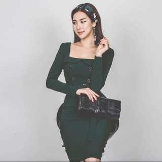 降價❗️東大門韓版復古包臀洋裝