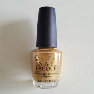 OPI Curry Up Don't Be Late! NLI49 (Green Label)