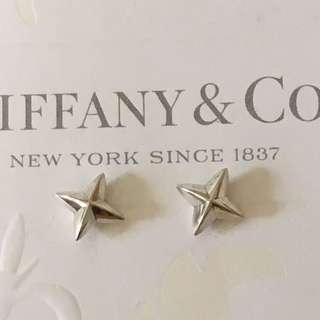 Rare Authentic Tiffany & Co. Elsa Peretti Sirius Star Stud Drop Silver Earrings