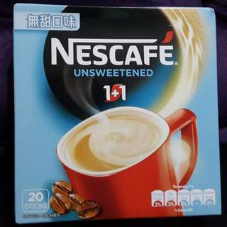 Nescafe 雀巢 1+1 即沖咖啡 無甜口味 一盒20小包 全新正版 (HKD$25/1盒,$48/2盒) 飲品 飲料 咖啡粉 Cafe Coffee
