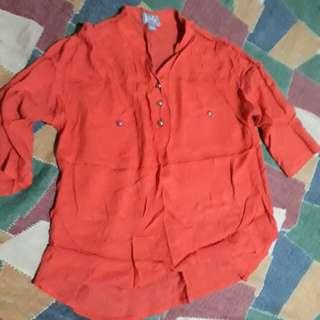 JUANA Half Sleeve Orange Shirt
