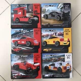 Decool racing car set, similar to LEGO