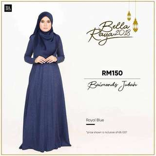 🌸Bella Ammara OPEN ORDER: BAIMOND JUBAH NEW COLORS $56  Collection on Sunday 11 March mailing out on Monday 12 March LIMITED STOCKS🌸 Royal Blue