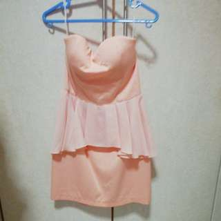 Pink Tube dress with breast padding