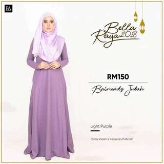 🌸Bella Ammara OPEN ORDER: BAIMOND JUBAH NEW COLORS $56  Collection on Sunday 11 March mailing out on Monday 12 March LIMITED STOCKS🌸 Light Purple