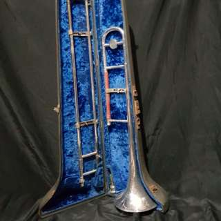 antique vintage EMO champion trombone