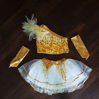 Gold dance dress (6/7yr old)