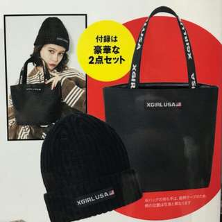Xgirl small tote and beanie