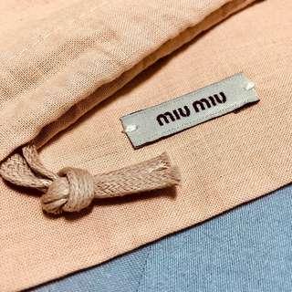 BN Authentic MiuMiu Dustcover DrawstringsPouch