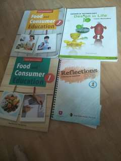 Food consumers,, design and technology ,reflection secondary   classes books