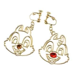 Japan Disneystore Disney Store Chip & Dale Line Earring