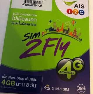 Sim2fly 數據卡