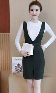 pinafore dresses with pocket