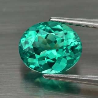1.65ct 8x6.7mm Oval Natural Green Apatite