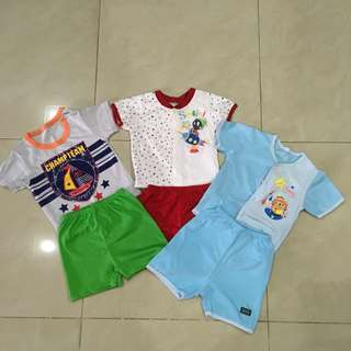 Bundle baby boy short sleeve set