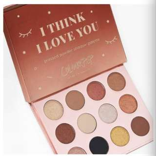[DEFINITELY A GOOD DEAL] Colourpop I think I Love You Palette 100% ORI