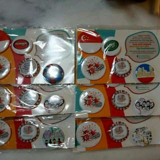 Assorted MSF 2014 badges (6packs)
