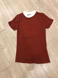 Maroon knit top