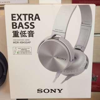 SONY MDR-XB450AP 耳罩式耳機 重低音 黑色白色黃色紅色藍色