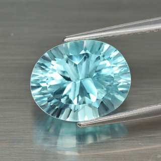 3.30ct Oval Concave Natural Sky Blue Topaz