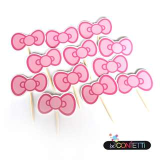 Hello Kitty Ribbon Cupcake Topper