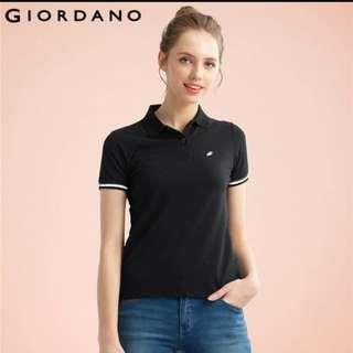 Giordano black polo tee shirt tapered