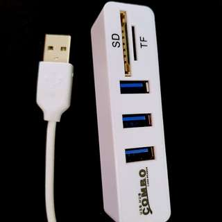 Usb card reader and usb hub