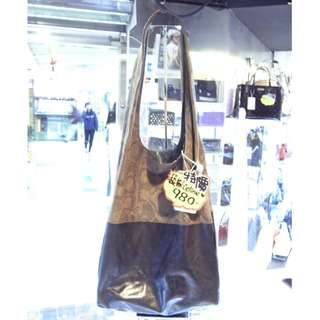 Celine Brown Snakeskin / Black Lesther Shoulder Shopping Tote Hand Bag Snake Skin 塞利 啡色 蛇皮 / 黑色 羊皮 皮革 手挽袋 手袋 肩袋 袋 購物袋
